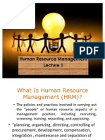 HRM Lecture 1