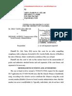 Taitz v. Asrtue - Plaintiff's Motion to Compel Subpoena - Obama Social Security Number CASE # 1:11-cv-00402