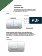 Relações métricas nos triângulos quaisquer