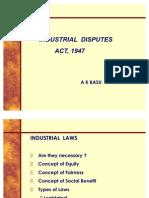 Slide-Industrial Disputes Act