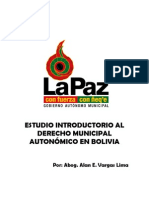 INTRODUCCION AL NUEVO DERECHO MUNICIPAL AUTONÓMICO EN BOLIVIA_Versión 2011
