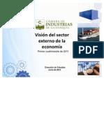Visión del Sector externo de la económia primer (Cuatrimestre)