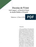La Doctrine de l'Unité (Ibrahim al Ya'qubi)