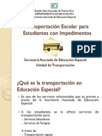 Presentacion Transportación Escolar 7 de julio de 2011