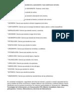 CIENCIAS AUXILIARES DE LA GEOGRAFÍA Y SUS CAMPOS DE ESTUDIO