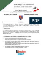 ISF Handball 2012 - Bulletin 1 _F