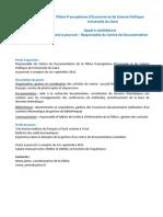 Fiche Poste Resp on Sable CDF - FESP