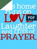 This Home PRAYER