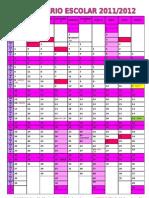 Calendario escolar 2012