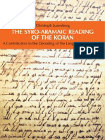 Cristoph Luxenberg the Syro-Aramaic Reading of the Koran
