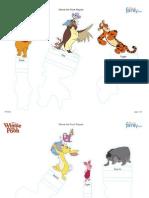 Pooh e Amigos para Imprimir e Recortar