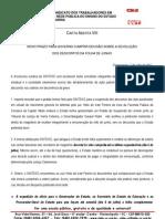 Carta Aberta VIII - Novo Prazo para Devolução dos Descontos da Folha de Junho