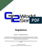GT2 World Series Regulations