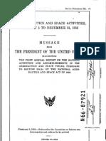 U.S. Aeronautics and Space Activities, January 1 to December 31, 1952
