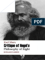 Karl Marx Critique of Hegel's PhR