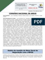 Informe do Comando Nacional de Greve (7.jul.2011) --o 5º editado em julho