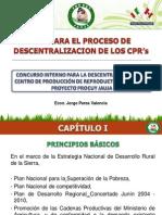 TDR PARA EL PROCESO DE DESCENTRALIZACION DE LOS CPR's