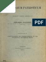 Rauschen. Florilegium Patristicum Fasciculus X. Tertulliani De paenitentia et De pudicitia