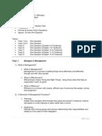 Management Exam Revision