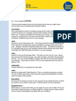 Finance Jargon Buster Fact Sheet