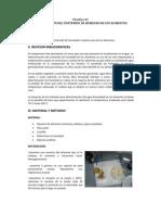 Practica DE DETERMINACIÓN DEL CONTENIDO DE HUMEDAD materia seca 2010 -II