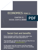 Chapter 21 Social Cost & Benifits