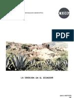 Erosion en El Ecuador