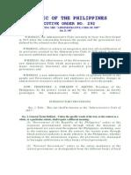 Eo 292 1987 Administrative Code