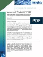 Executive Brief Activity-Based Management Drives ROI at DWP