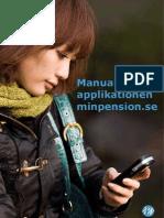 minpension.se manual för appen