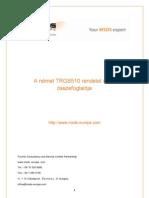A TGRS510 német jogszabály rövid összefoglalója