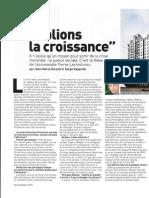 Oublions la croissance .Pierre Larrouturou