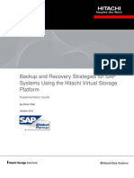 Hitachi Backup and Recovery Strategies for Sap Systems Implementation Guide