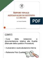 Funzione Strumentale- Autoanalisi d'Istituto- (Area1)-Sintesi Report Finale Autoanalisi