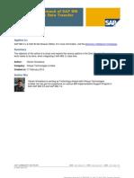 Integration Approach of SAP BW