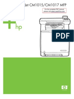 Hp Clj Cm1015 Cm1017 Mfp Manual Toc