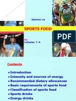 Sports Food Presentation