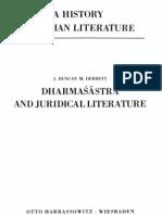 A History of Indian Literature. Vol. v, Fasc.1. Dharmashastra and Juridical Literature. M.derrett