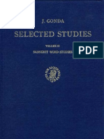 J.gonda. Selected Studies. Volume II. Sanskrit Word Studies