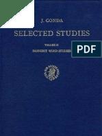 J.gonda. Selected Studies. Volume II. Sanskrit Word Studies