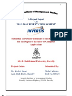 indian rail reservation database systemIt Project | Object