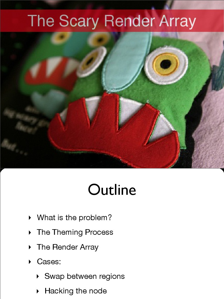 the Scary Render Array | Drupal | Array Data Structure