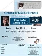 Alzheimer's Workshop Flyer