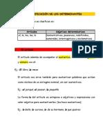 Clasificación determ y ejercicios generales. 1º ESO