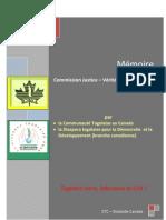 Mémoire du CTC-Diastode-Canada au CVJR-Togo