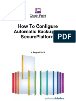 How to Configure Automatic Backups in Secure Platform