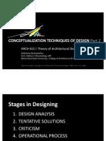 Arch413-Conceptualization Techniques of Design Part 2