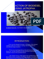 Extraction of Biodiesel Using Jatropha