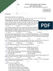 Đề thi đại học môn Hóa khối A năm 2011 - Mã đề
