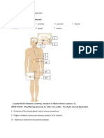 Endocrine System Practice Test